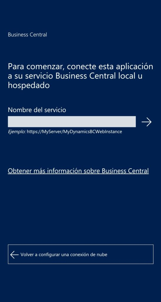 microsoft dynamics business central mobile log in
